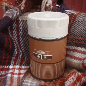 Vintage Thermos Brown Pint  Made In the USA Norwich Conn