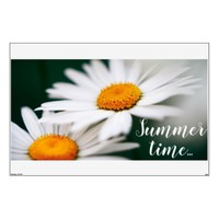 "Two pretty daisies. Add text. 48""x72"" Wall Decal"