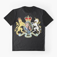 """""""Prince Harry and Meghan Markle"""" Graphic T-Shirt by ValentinaHramov 