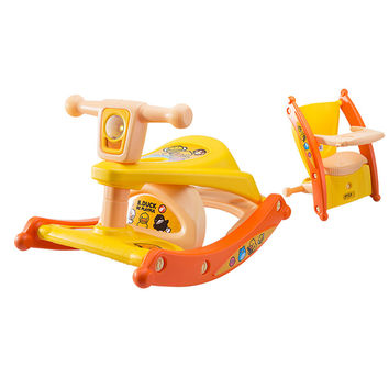 Children Rocking Horse Gift Baby Eating Chair Music Ride on Toy Cute Duck Birthday Walker Amphibious Toys 2 kinds of functions