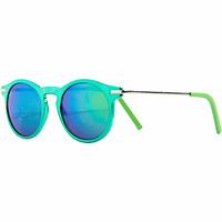 Green round retro sunglasses
