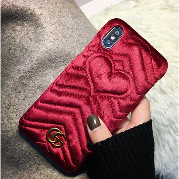 GUCCI Trending Fashion Casual Print iPhone Phone Cover Case For iphone 6 6s 6plus 6s-plus 7 7plus hard shell G