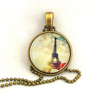 10% SALE Necklace Copper Eiffel Tower Favors with Chain Necklace  Mother Pendant Necklaces Gift