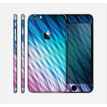 The Vibrant Blue and Pink Neon Interlock Pattern Skin for the Apple iPhone 6 Plus