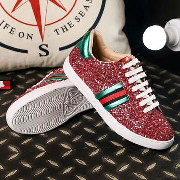 GUCCI Women Fashion Casual Old Skool Flats Shoes
