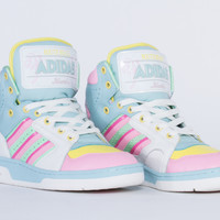 Adidas Originals X Jeremy Scott License Plate Miami Mens in White Vapour at Solestruck.com