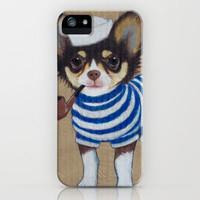 Sailor Chihuahua iPhone Case by PaperTigress | Society6