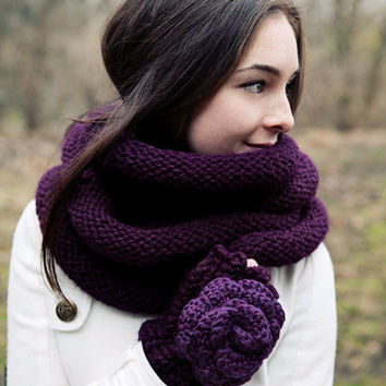 Plum Infinity Scarf by BglorifiedBoutique on Etsy