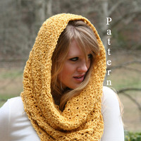 Crochet PATTERN  for Cowl Scarf Snood Scarf Instant Download Instructions for Two Scarves