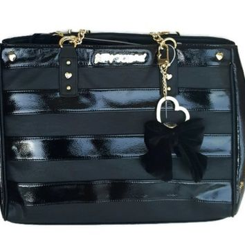 Betsey Johnson TOTE BAG IN BAG - BLACK