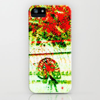 Tedder hit the Hay iPhone & iPod Case by Gréta Thórsdóttir   #pension #harvest #grass #pasture #crop #red #yellow #green