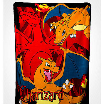 Charizard Fleece Blanket - Spencer's