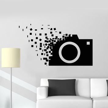 Vinyl Wall Decal Retro Camera Photographer Cubes Stickers Unique Gift (1354ig)