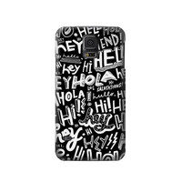 P2744 Hey Hi Hello Pattern Phone Case For Samsung Galaxy S5
