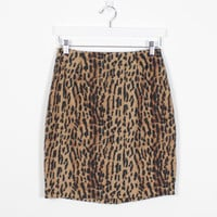 Vintage 90s Skirt Black Brown Gold Leopard Print Cheetah Animal Print Mini Skirt Soft Grunge 1990s Skirt Club Kid Rave Wear Skirt M Medium