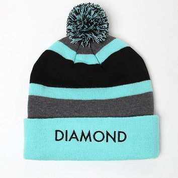 Diamond Supply Co OG Pom Beanie - Mens Hats - Black/Mint - One