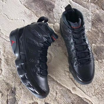 Air Jordan 9 Retro Bred Black/anthracite University Red Aj9 Sneakers
