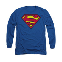 Superman Classic Logo Mens Long Sleeve T-Shirt