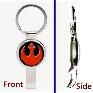 Star Wars Rebel Alliance emblem logo Pendant or Keychain secret bottle opener