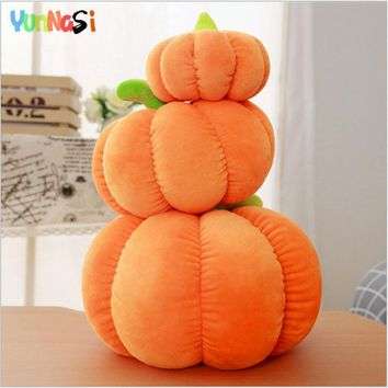 YunNasi Plush Pumpkin Pillow 40/60cm Kawaii Fruits Vegetable Cushion Stuffed Toys For Children Squishy Soft Toys Birthday Girls