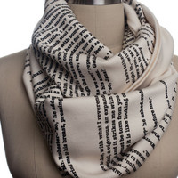 Jane Eyre Book Scarf by storiarts on Etsy