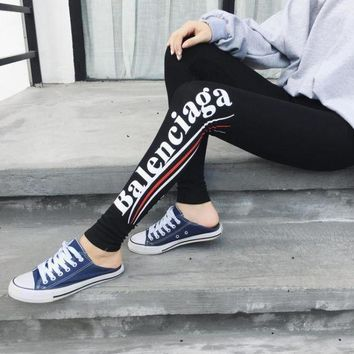 ONETOW Day-First? BALENCIAGA Pro Exercise Fitness Gym Running Training Leggings