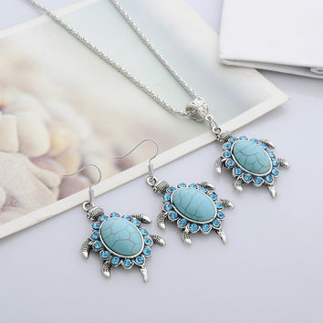 Accessory Turquoise Diamonds Hot Sale Set [11666780047]