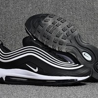 Nike Air Max 97 Black/White Running Shoes Size 40-47