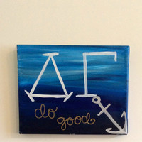 "DG Delta Gamma ""Do Good"" ombre Anchor Painting"