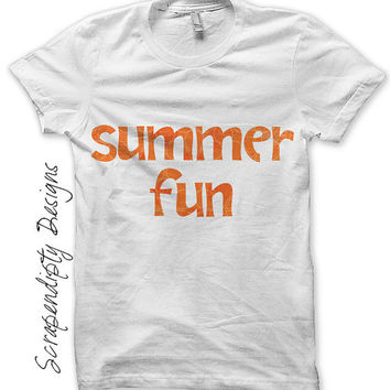 Summer Iron on Shirt PDF - Girls Iron on Transfer / Cute Kids Clothes / Womens Summer Shirt / Boys Beach Tshirt / Kids Girls Clothing IT87