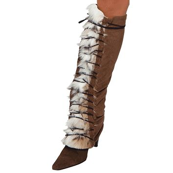 Sexy Fur Indian Girl Legwarmers Halloween Accessory