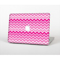 The Pink & White Ombre Chevron V2 Pattern Skin Set for the Apple MacBook Air 11""