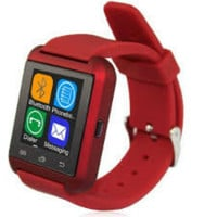 Bluetooth Smart Wrist Watch Phone Mate Red