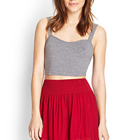 FOREVER 21 Cutout Embroidered A-Line Skirt