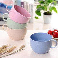 Novelty Cute Milk Mug Cup Wheat Stalk Creative Coffee Porcelain Tea Cup Nice Gifts Breakfast Couple Cups 4 Color