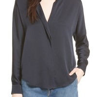 Vince Double Front Stretch Silk Shirt | Nordstrom