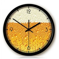 Creative Beer Foam Wall Clock