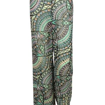 Bar III Women's Printed Desing Pants Cover ups