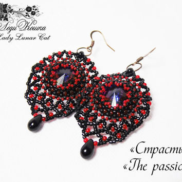 "Beaded Earrings ""Passion"""