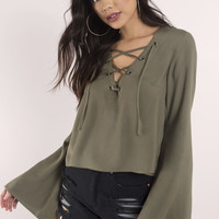 Arya Lace Up Top
