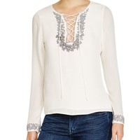Rebecca Minkoff Yoko Lace Up Top | Bloomingdales's