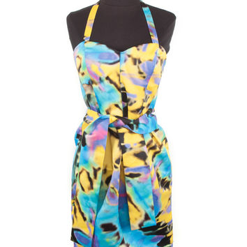 Love Moschino Yellow & Blue Cocktail Dress
