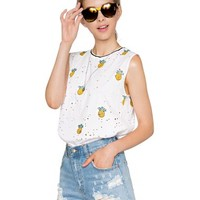 Pineapple ripped tank