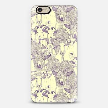 just goats purple cream iPhone 6 case by Sharon Turner | Casetify