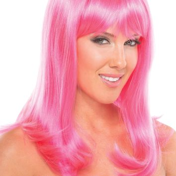 BW094HP Hollywood Wig Hot Pink - Be Wicked