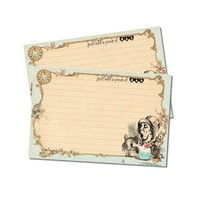 Mad Hatter Recipe Cards - Alice in Wonderland - Pack of 12