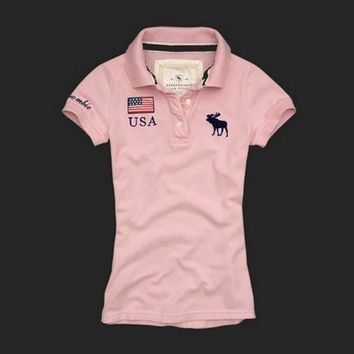 Womens American Flag Polo Shirt