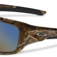 Oakley Valve Angling Specific Woodland Camo Shallow / Blue Polarized Sunglasses