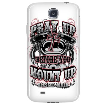 Pray Up Before You Mount Up Phone Case