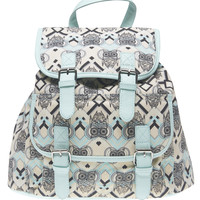 Owl Print Canvas Backpack | Wet Seal